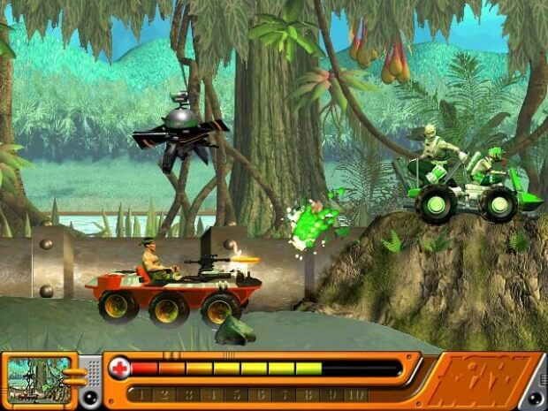 Action Man Jungle Storm game screenshot 2