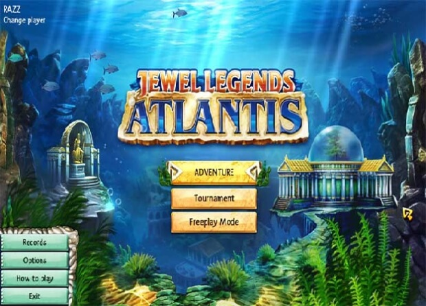 Jewel Legends Atlantis game screen shots 1