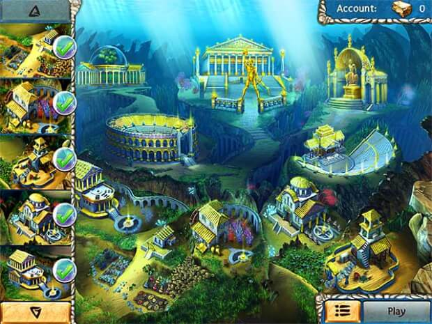Jewel Legends Atlantis game screen shots 2