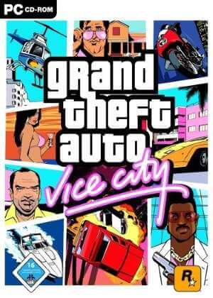 Grand Theft Auto gta Vice City Free Download cover box