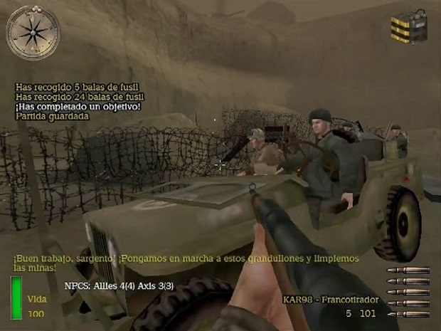 Medal of Honor Allied Assault Game play