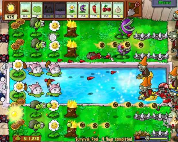 Plants vs. Zombies Video Gameplay