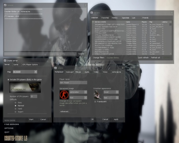 Counter Strike 1.6 Adrenaline v3.6 Screenshot