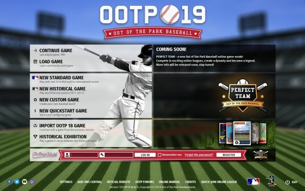 Out of the Park Baseball 19 Video Game
