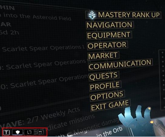 menu at the bottom 2