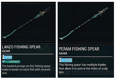 fishing spears