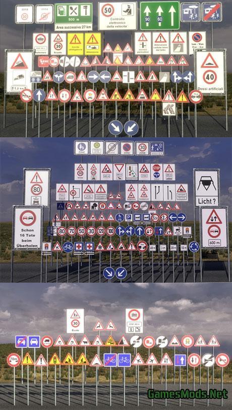 Road Signs V10 FS17 CNC FS15 ETS 2 Mods