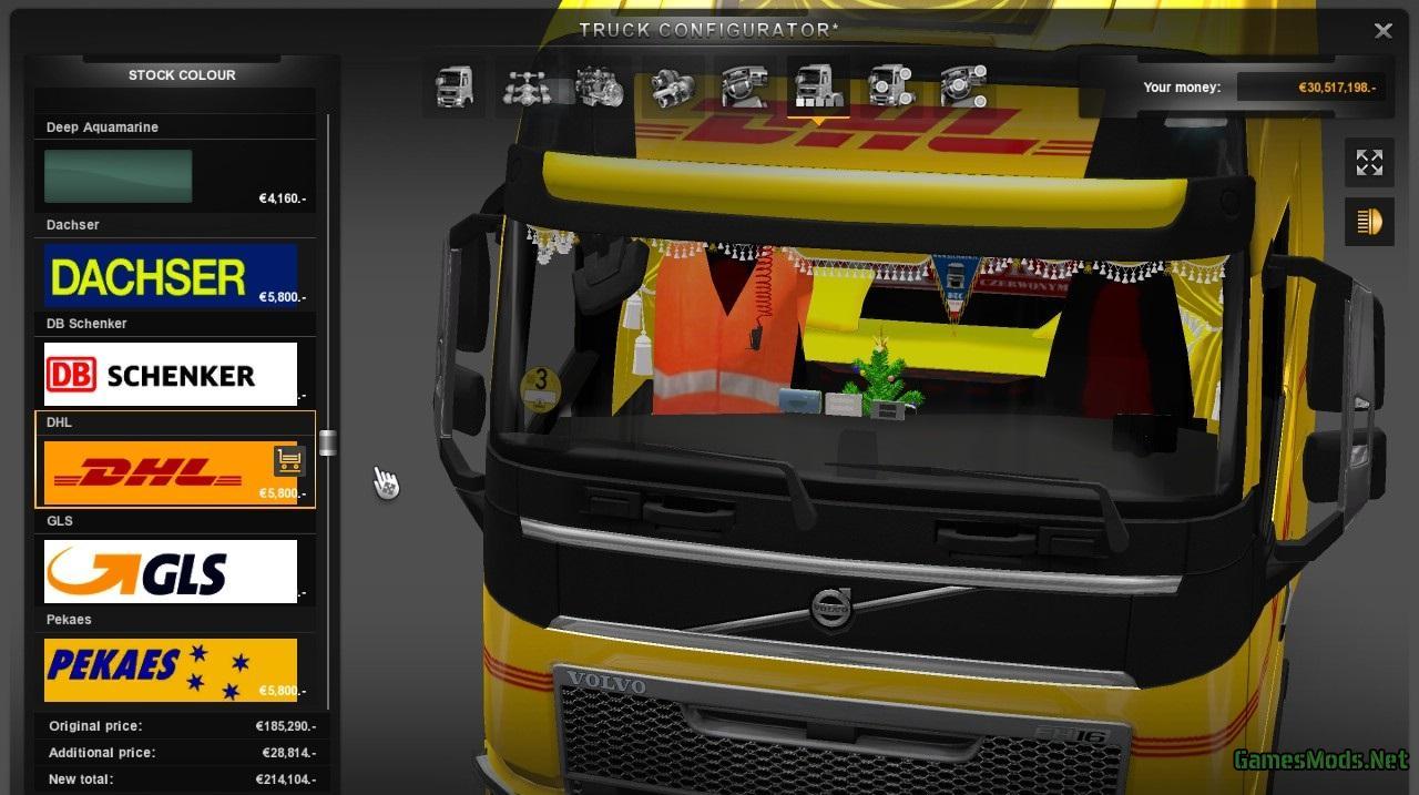 New Volvo FH Mega Tuning Interior Addons