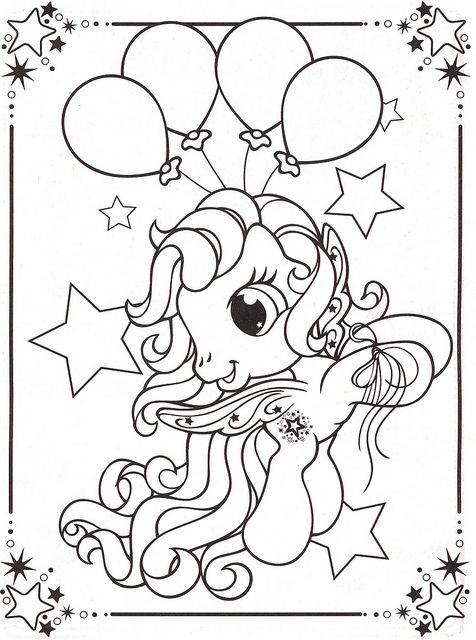 My Little Pony Balloon Coloring Page - My Little Pony