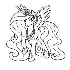 My Little Pony Princess Celestia With Necklace Coloring