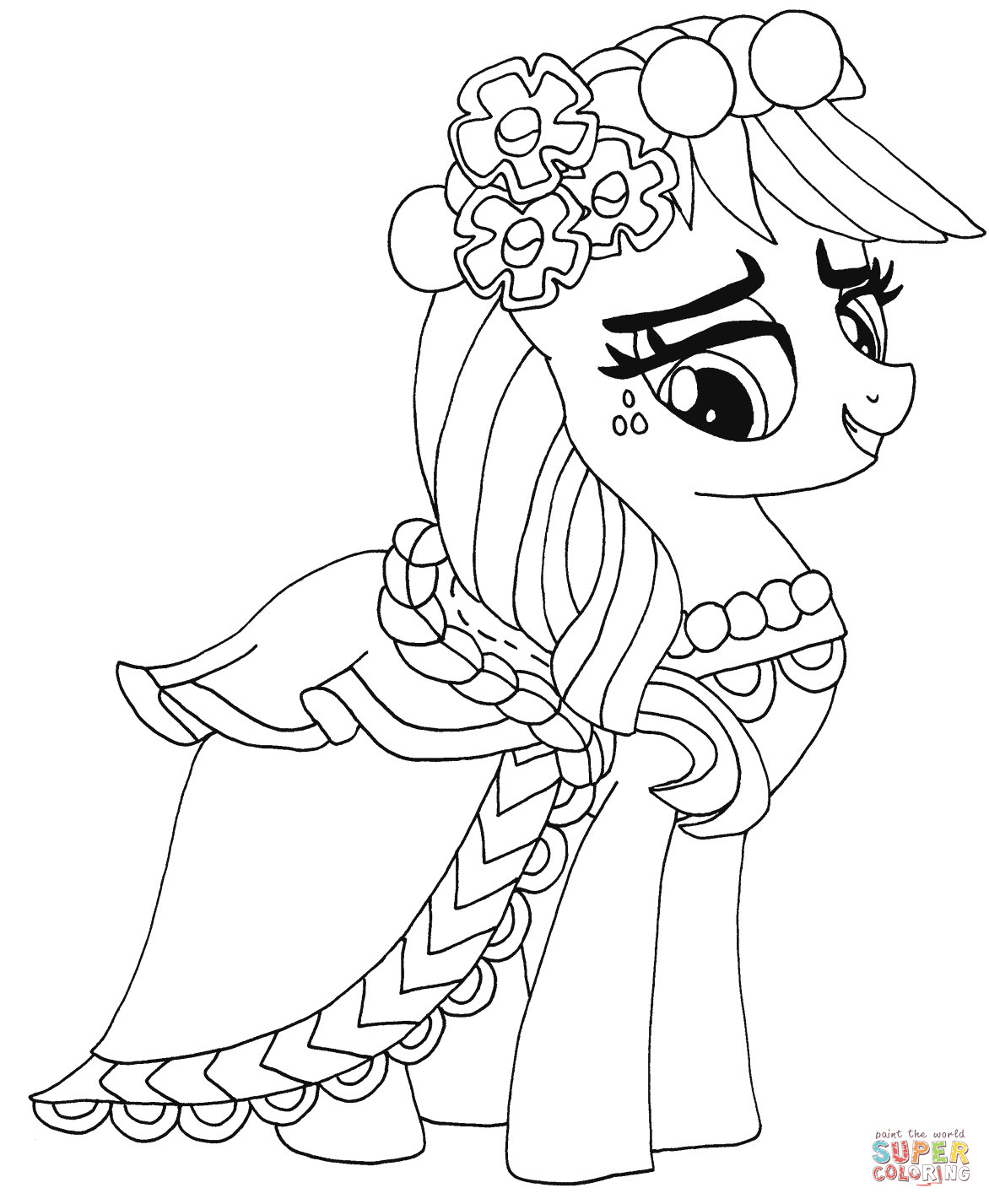 My Little Pony Dj Pon Coloring Page My Little Pony Coloring Pages