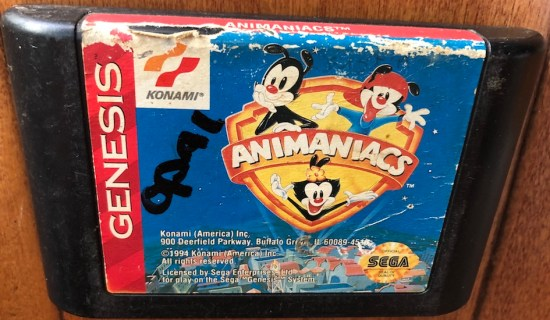 animaniacs sega genesis cartridge from rgt box