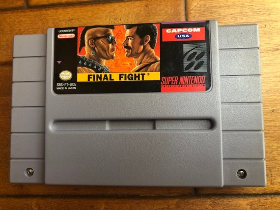 image of final fight SNES from RWR box