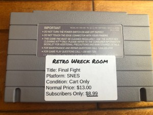 image of final fight SNES backside