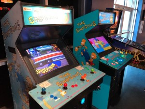 two the simpsons arcade cabinets for big al's silicon valley review