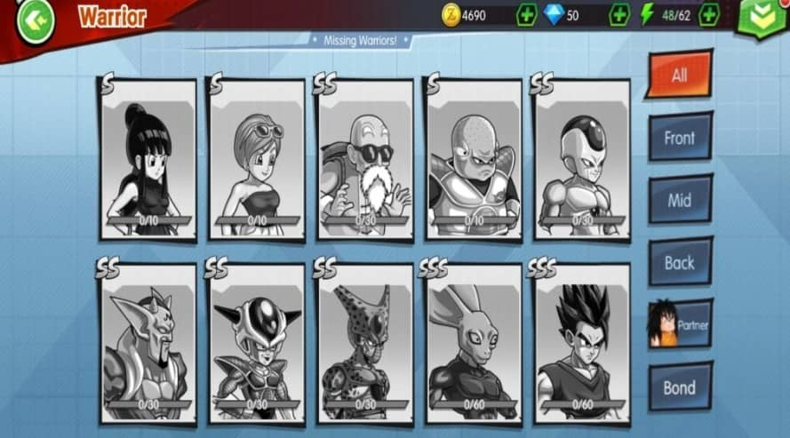 All Characters in Dragon Ball Saiyans United