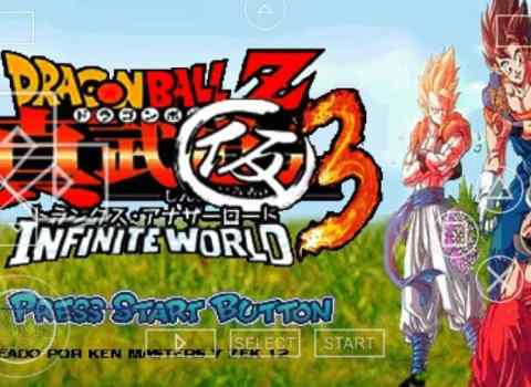 Dragon Ball Z - Infinite World PSP ISO Download for Android