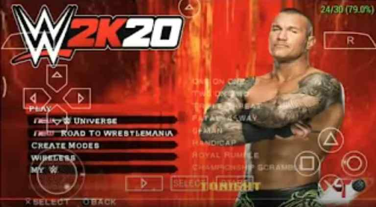 WWE 2K20 PPSSPP Zip File Download for Android
