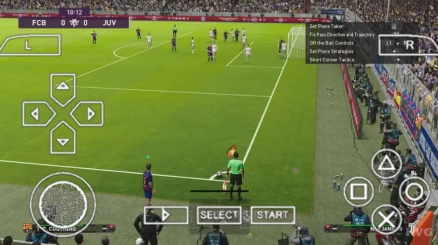 Pes 2021 PPSSPP With PS4 Camera