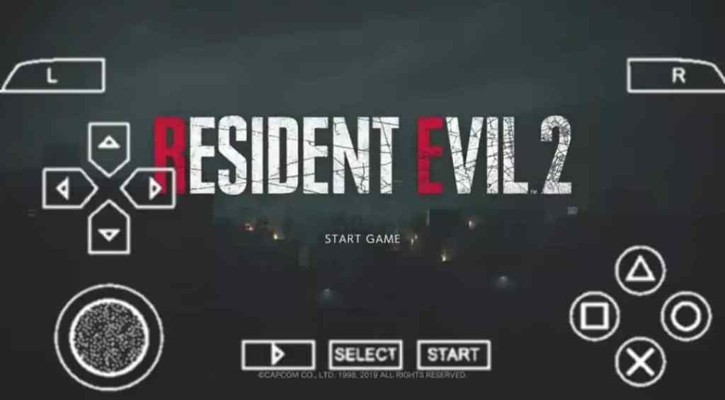 Resident Evil 2 PPSSPP Zip File Download Android