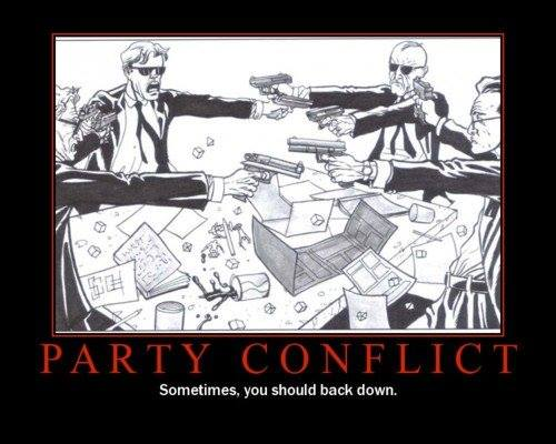 Handling Inner Party Conflict  Games On The Mind