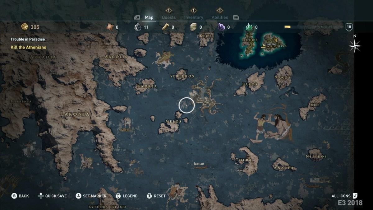 Στη δημοσιότητα ο χάρτης του Assassin's Creed: Odyssey