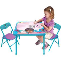 Doc Mcstuffins Erasable Activity Table And Chair Set Blue Indoor Swing Chairs Pet Vet With 3