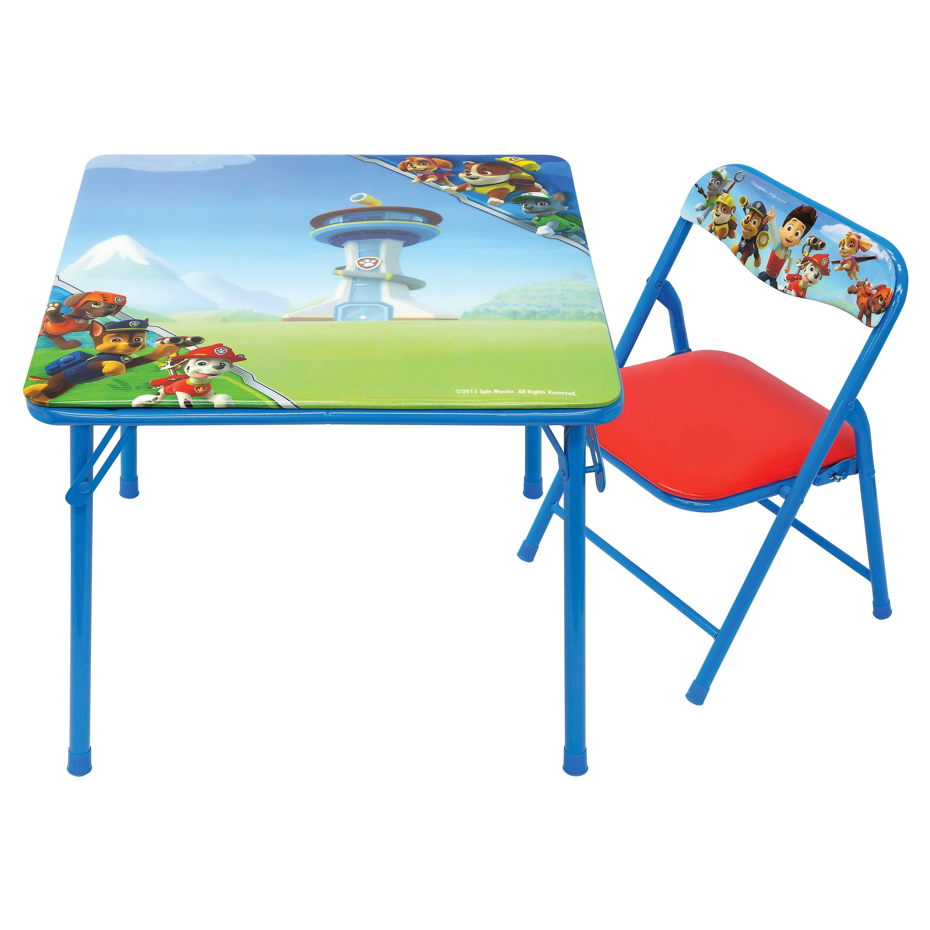 card tables and chairs at target narrow bedroom chair nickelodeon paw patrol junior table padded set