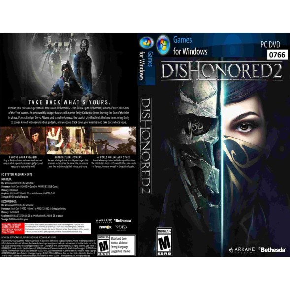Dishonored 2 Activation Key + Features PC Game Free Download