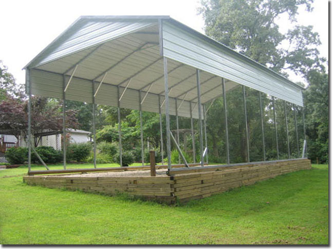 Large Vehicle Carports Top Notch Metals Martin Georgia