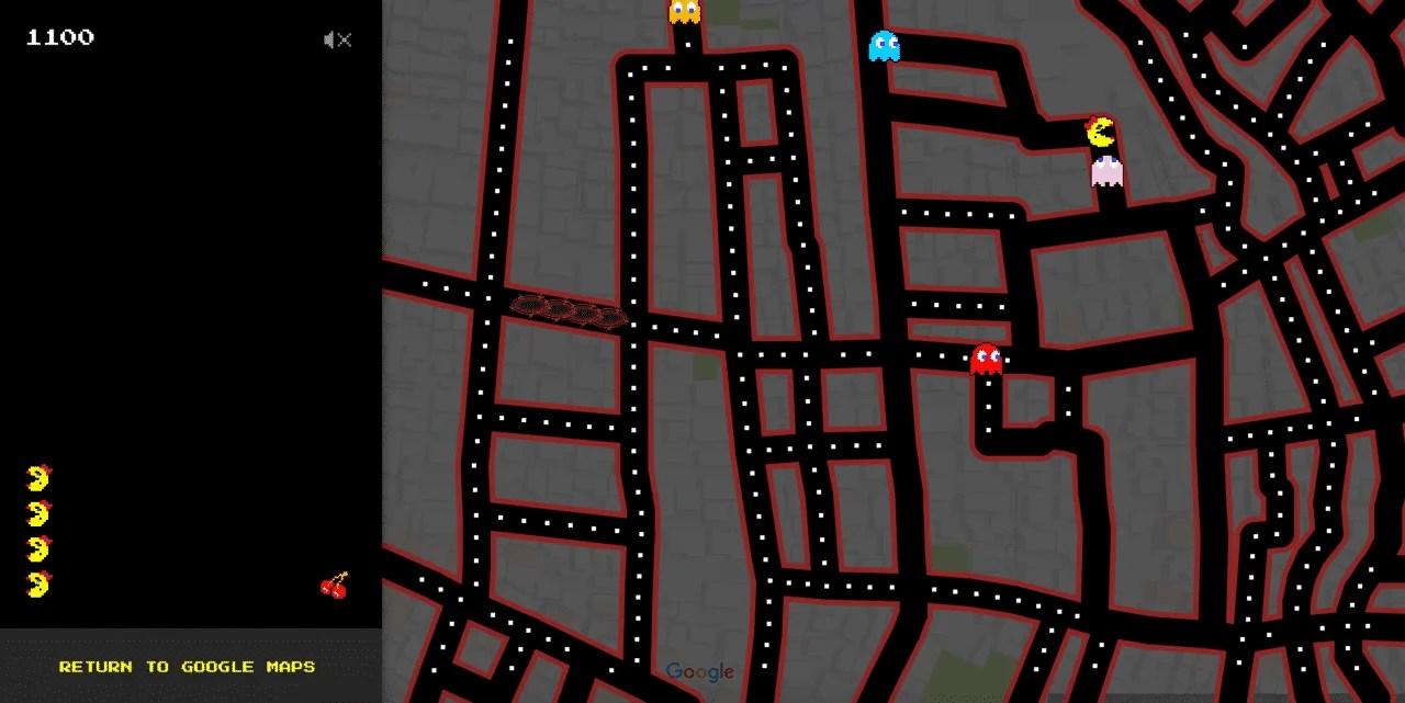 Sorpresa! Google vi fa giocare con Pacman su Google Maps