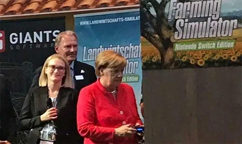 Il cancelliere Angela Merkel apre la Gamescom 2017 di Colonia