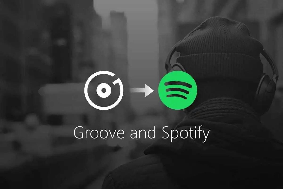 Microsoft Groove Music: stop al servizio streaming e integrazione con Spotify