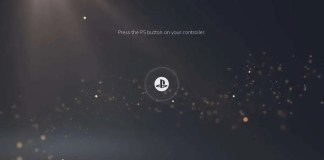 PlayStation 5 Start Screen