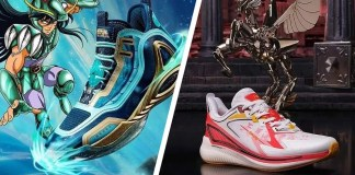 saint seiya cavalieri dello zodiaco sneakers scarpe da tennis marketing