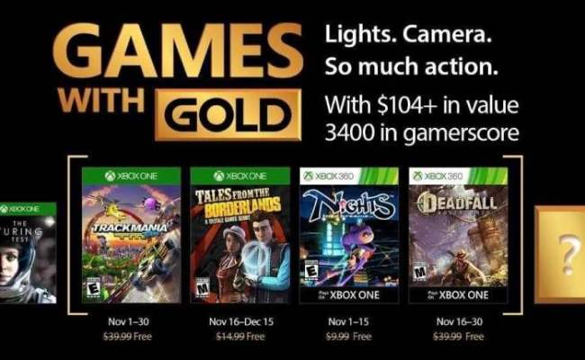 Xbox Games With Gold November 2017 Line Up Revealed