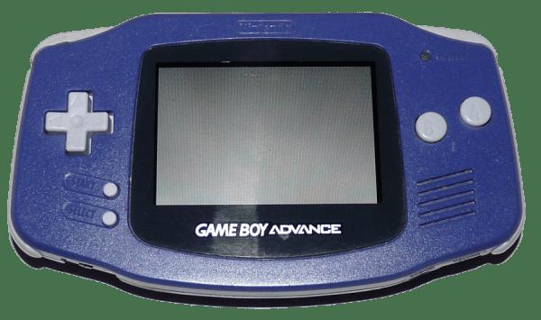 nintendo gameboy advanced white front angle gametrog