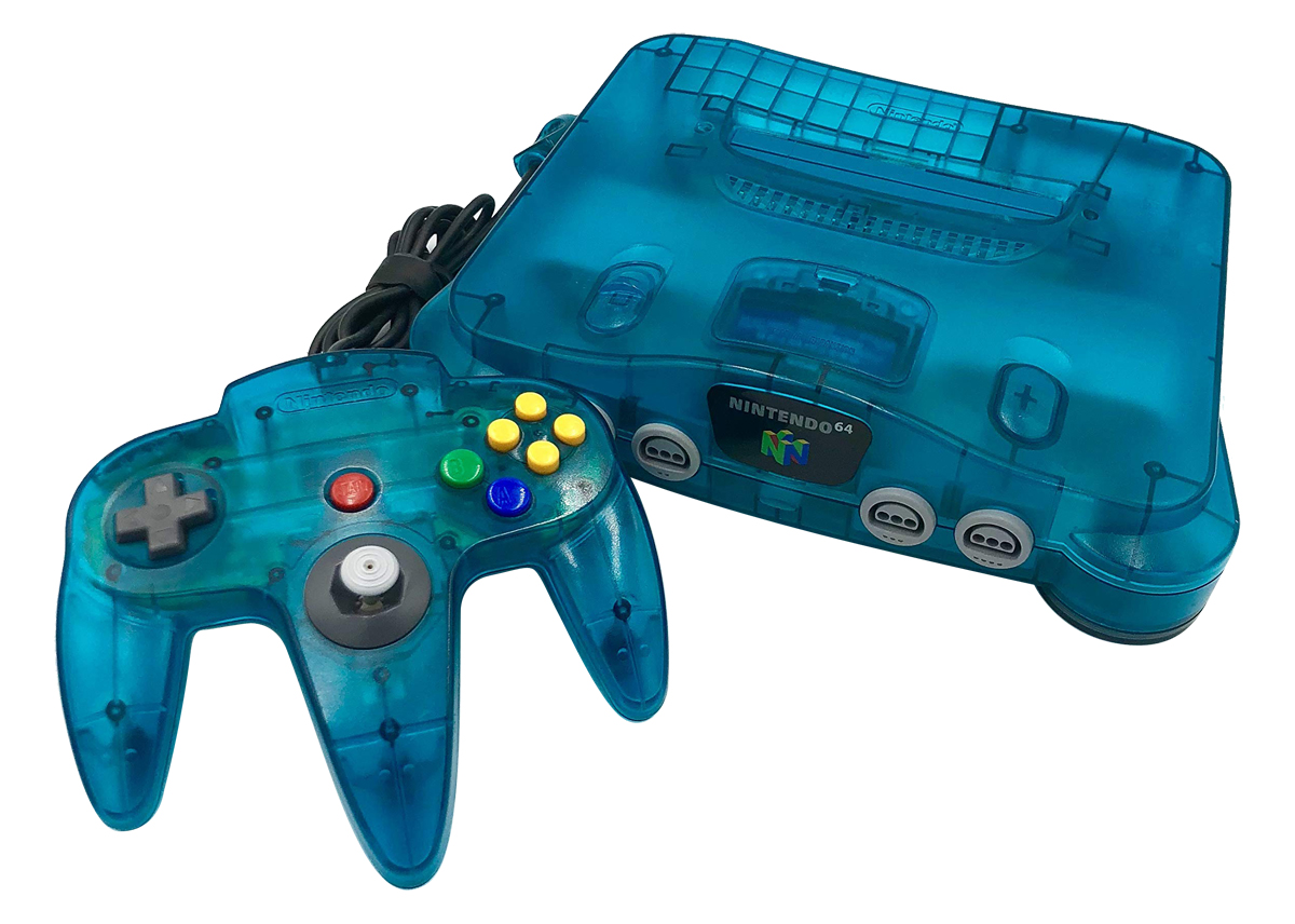 hight resolution of but as was the norm for nintendo by this time there were many color variations available for the n64 and its controllers including some super cool ones