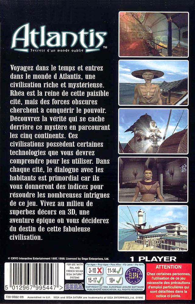 Atlantis : Secrets D'un Monde Oublié : atlantis, secrets, monde, oublié, GameTronik, Atlantis%20-%20Secrets%20d%27un%20monde%20oublie%20%28F%29, (Sega, Saturn)