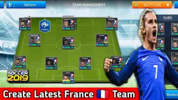 How To Create France Latest team in Dream League Soccer