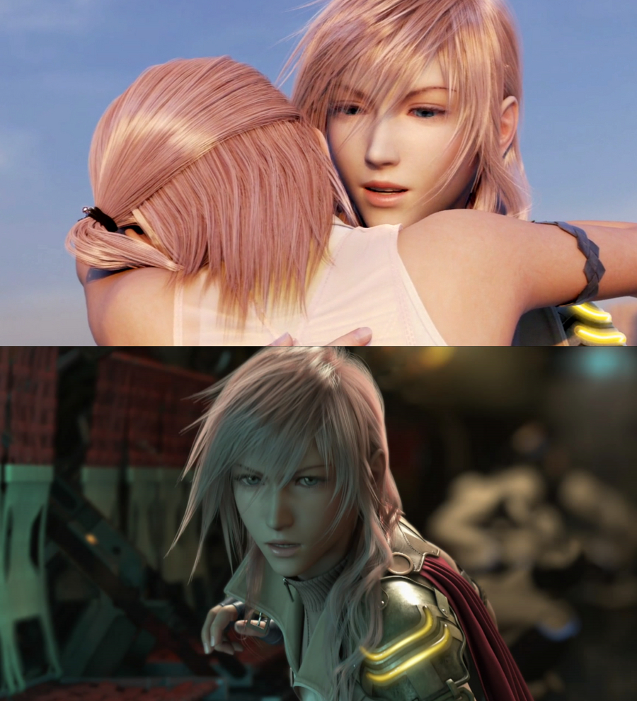 Hot & Lovely Cute Lightning (Claire Farron) in Fantasy XIII (and reunite with Serah)