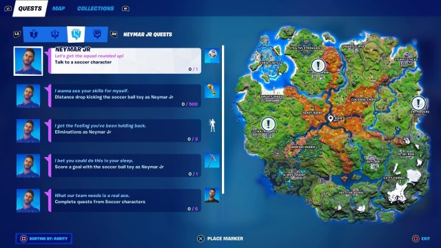 All Neymar JR Quests in Fortnite Season 6 Chapter 2 Challenges