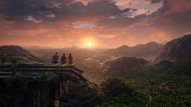 A beautiful sunset in Uncharted Lost Legacy ending