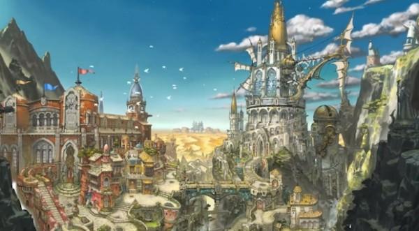 魔法学園都市イスタンタール。圧倒的に美麗な背景。