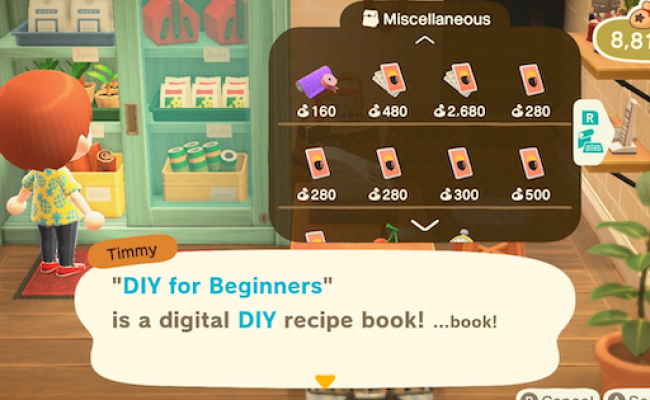 Acnh Diy For Beginners Which Recipes Are Unlocked