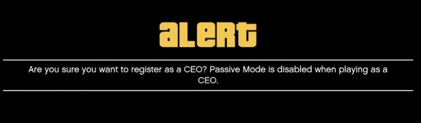 Alert disbale passive mode