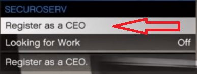 registered as ceo in GTA 5