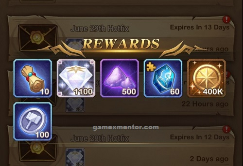 Afk Arena Rewards