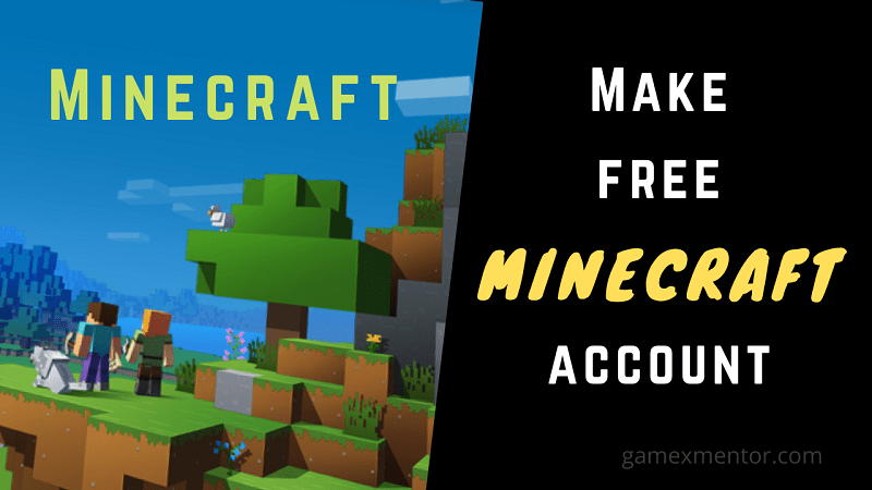 make a free minecraft account