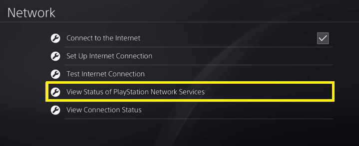 server status playstation